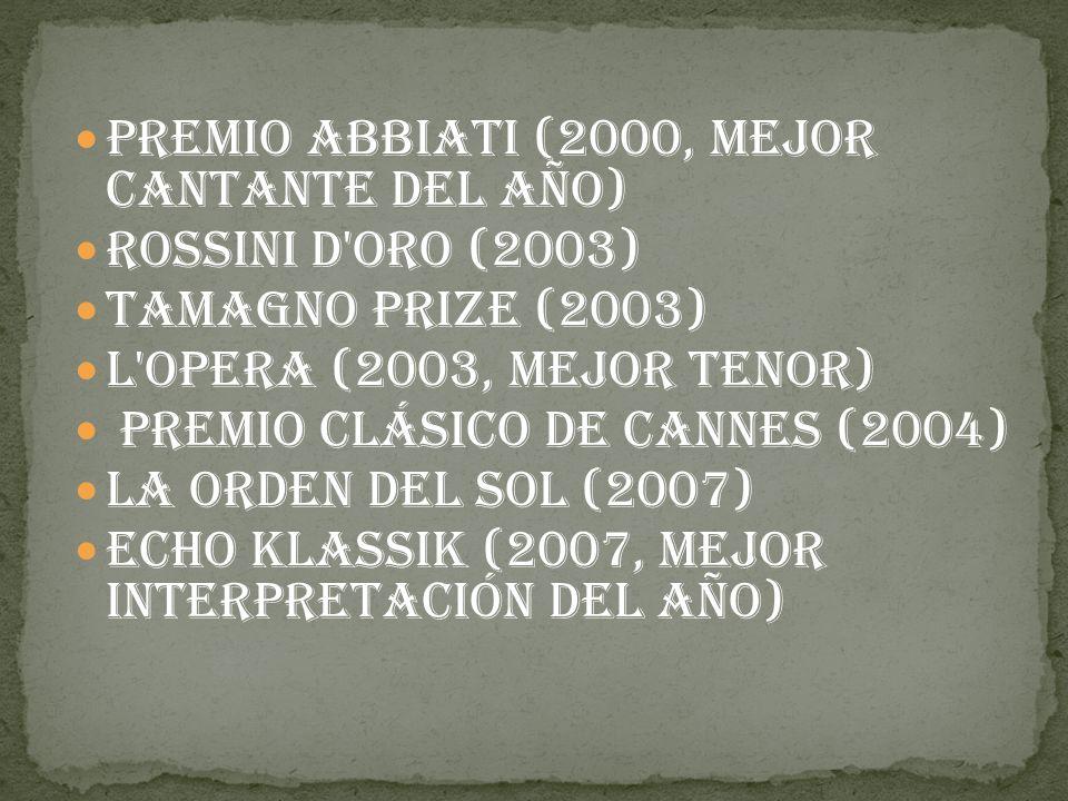 Premio Abbiati (2000, mejor cantante del año)