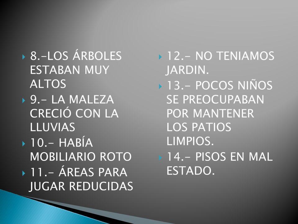 8.-LOS ÁRBOLES ESTABAN MUY ALTOS