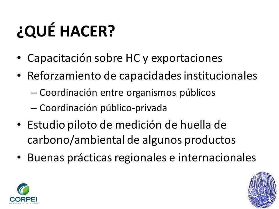 ¿QUÉ HACER Capacitación sobre HC y exportaciones