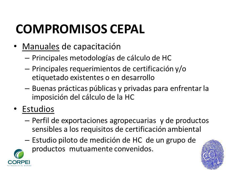 COMPROMISOS CEPAL Manuales de capacitación Estudios
