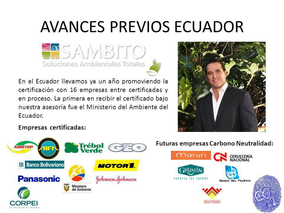 AVANCES PREVIOS ECUADOR