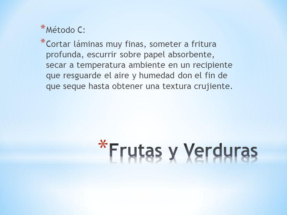 Frutas y Verduras Método C: