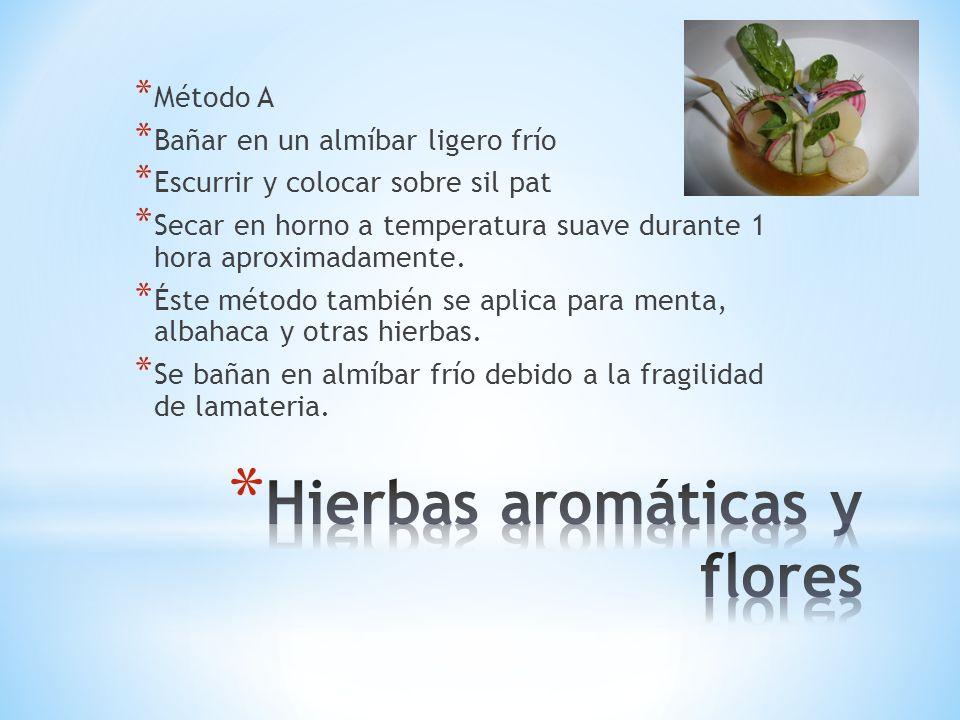 Hierbas aromáticas y flores
