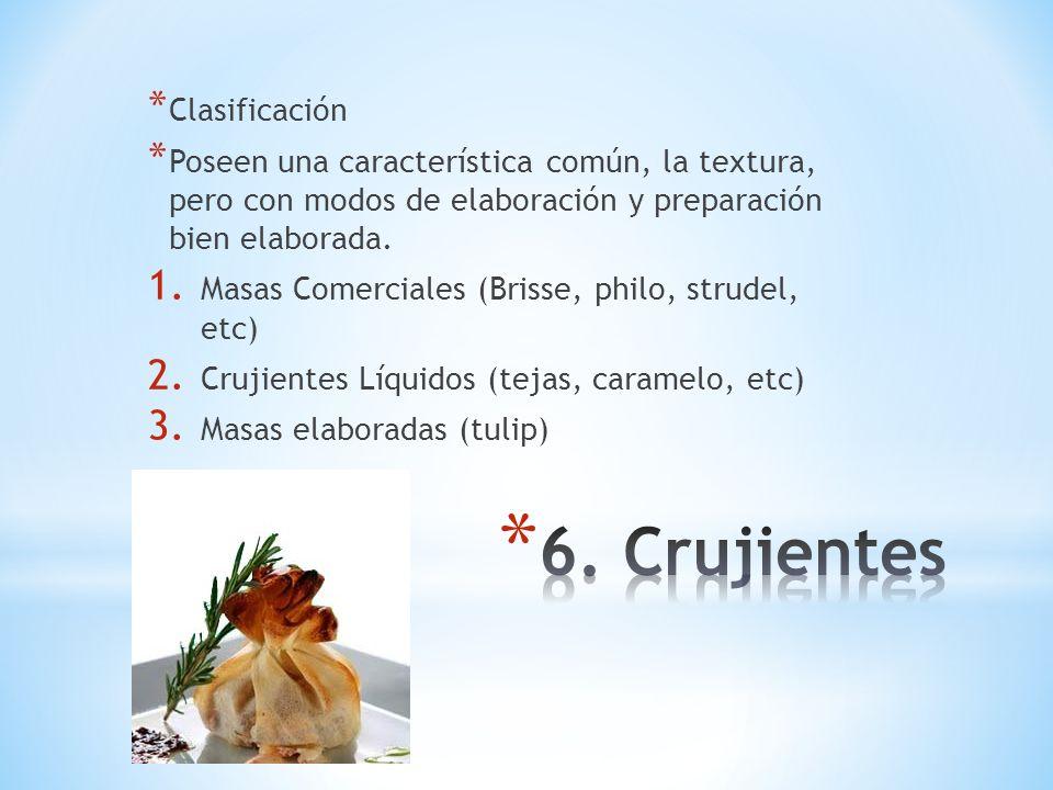 6. Crujientes Clasificación