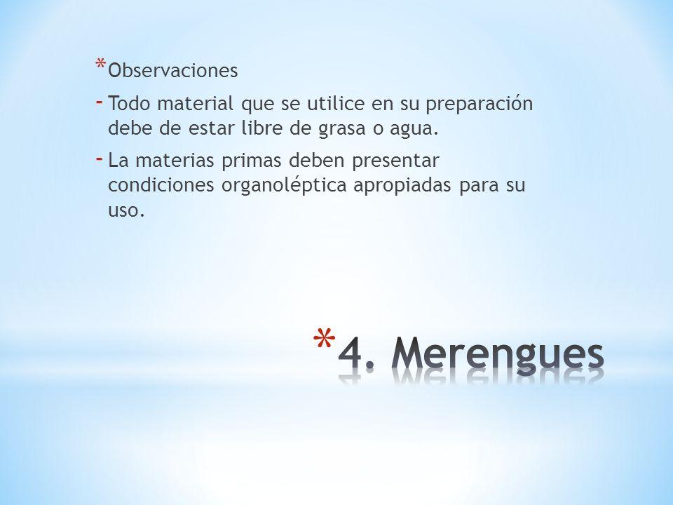 4. Merengues Observaciones