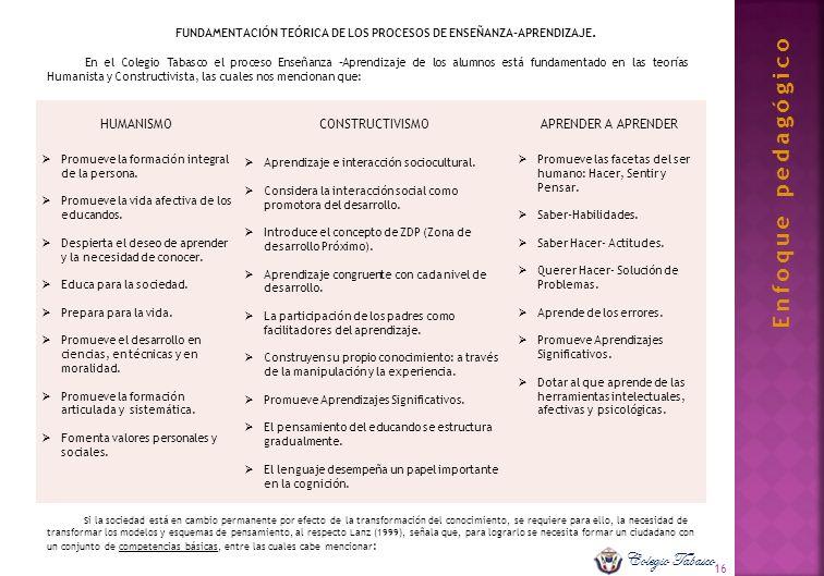 FUNDAMENTACIÓN TEÓRICA DE LOS PROCESOS DE ENSEÑANZA-APRENDIZAJE.