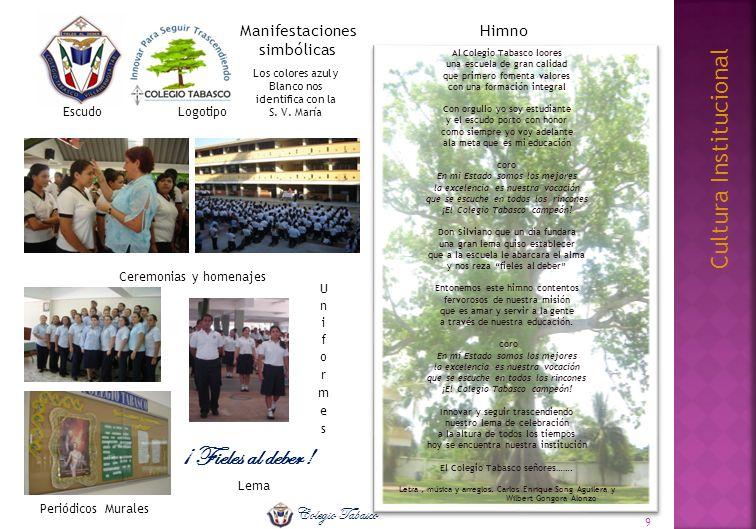 ¡ Fieles al deber ! Cultura Institucional Colegio Tabasco