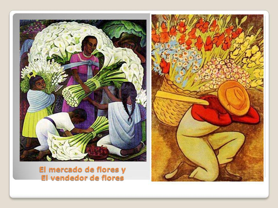 El mercado de flores y El vendedor de flores