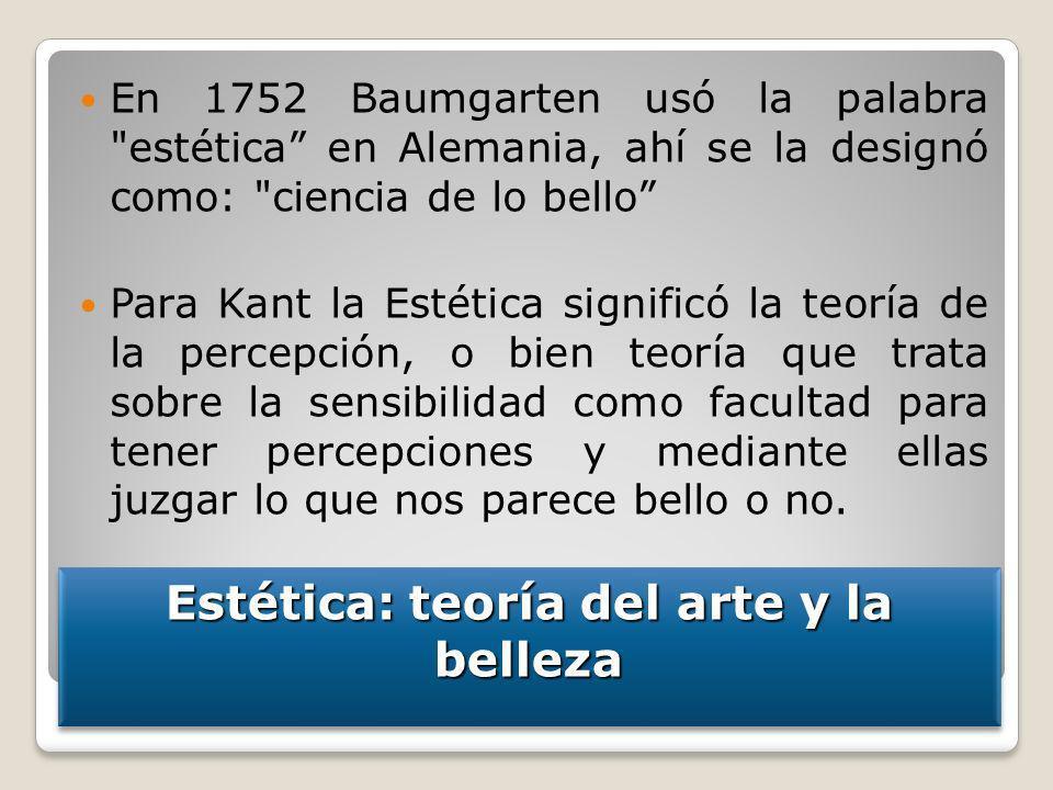 Estética: teoría del arte y la belleza