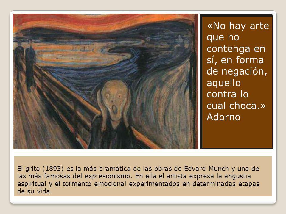 «No hay arte que no contenga en sí, en forma de negación, aquello contra lo cual choca.» Adorno