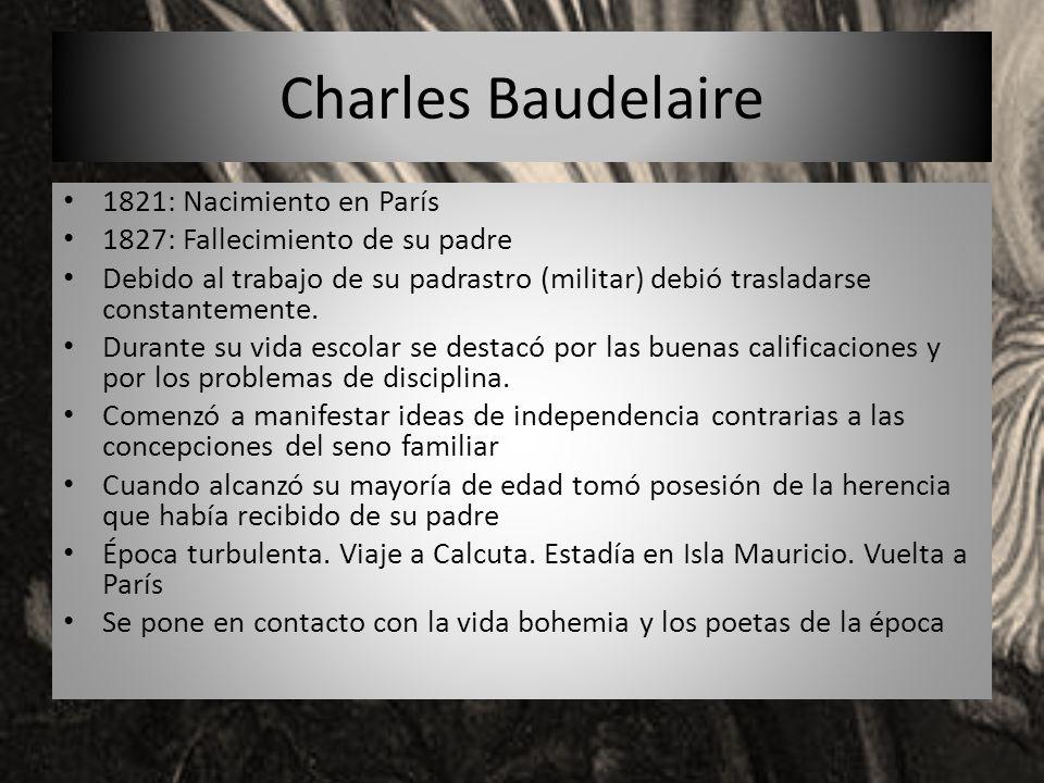 Charles Baudelaire 1821: Nacimiento en París