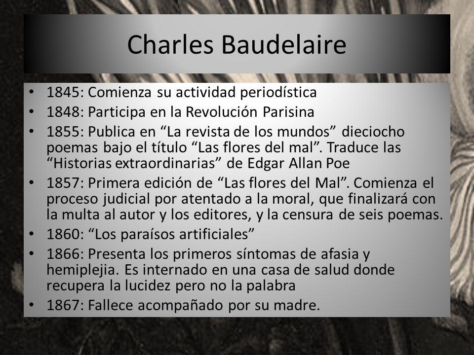 Charles Baudelaire 1845: Comienza su actividad periodística
