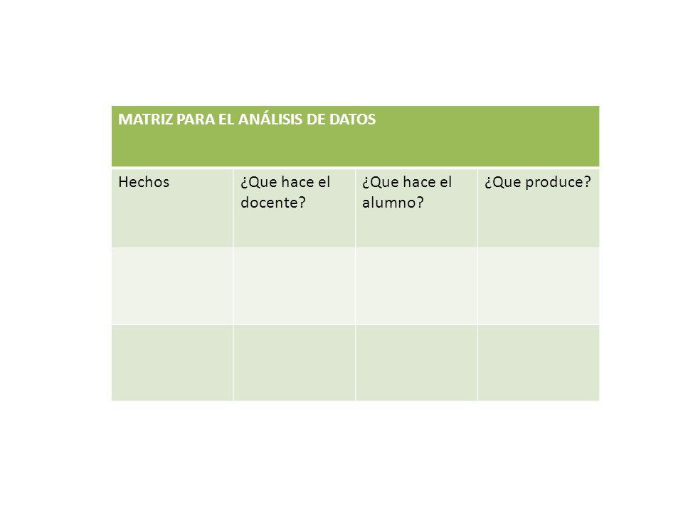 MATRIZ PARA EL ANÁLISIS DE DATOS