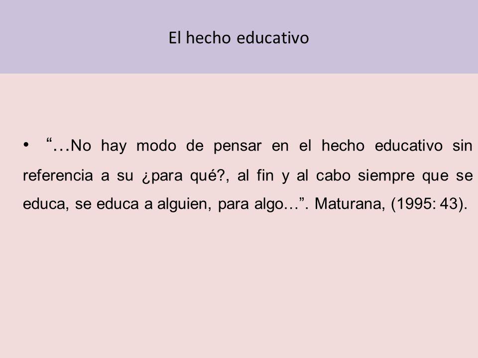 El hecho educativo