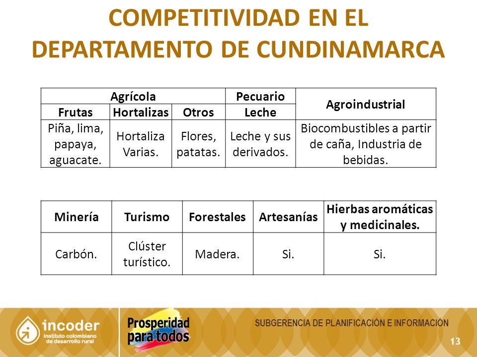 Competitividad en el departamento de Cundinamarca