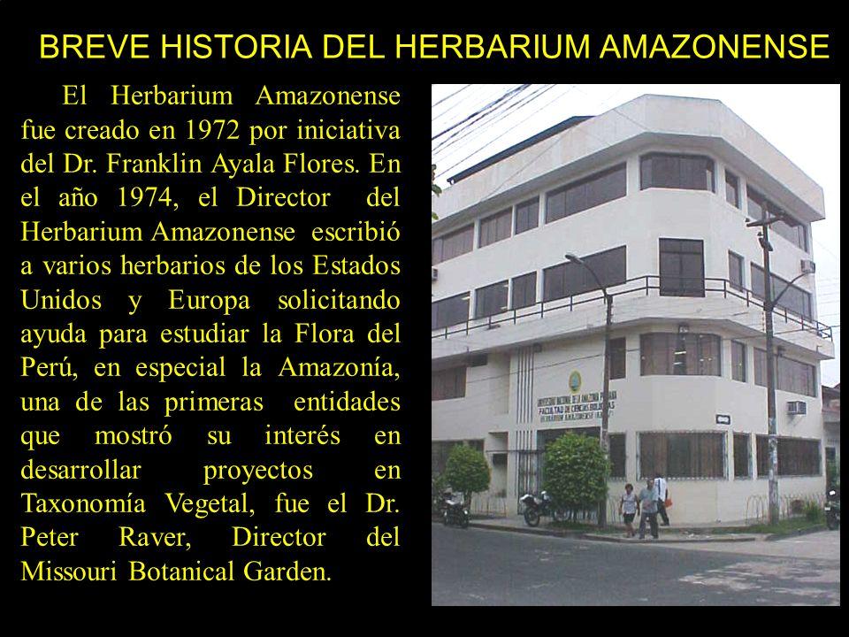 BREVE HISTORIA DEL HERBARIUM AMAZONENSE