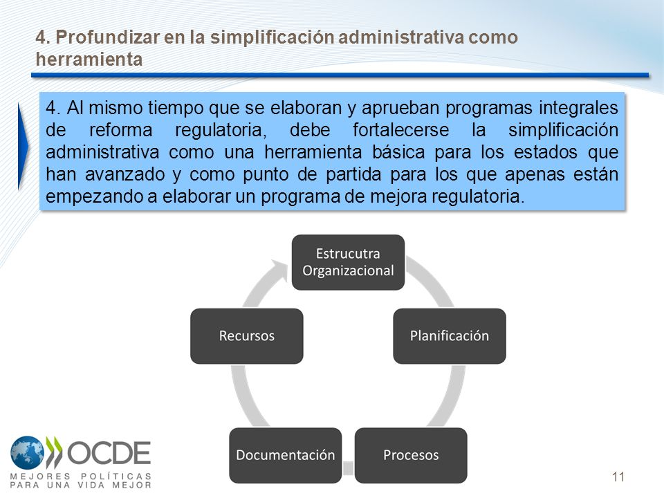 4. Profundizar en la simplificación administrativa como herramienta
