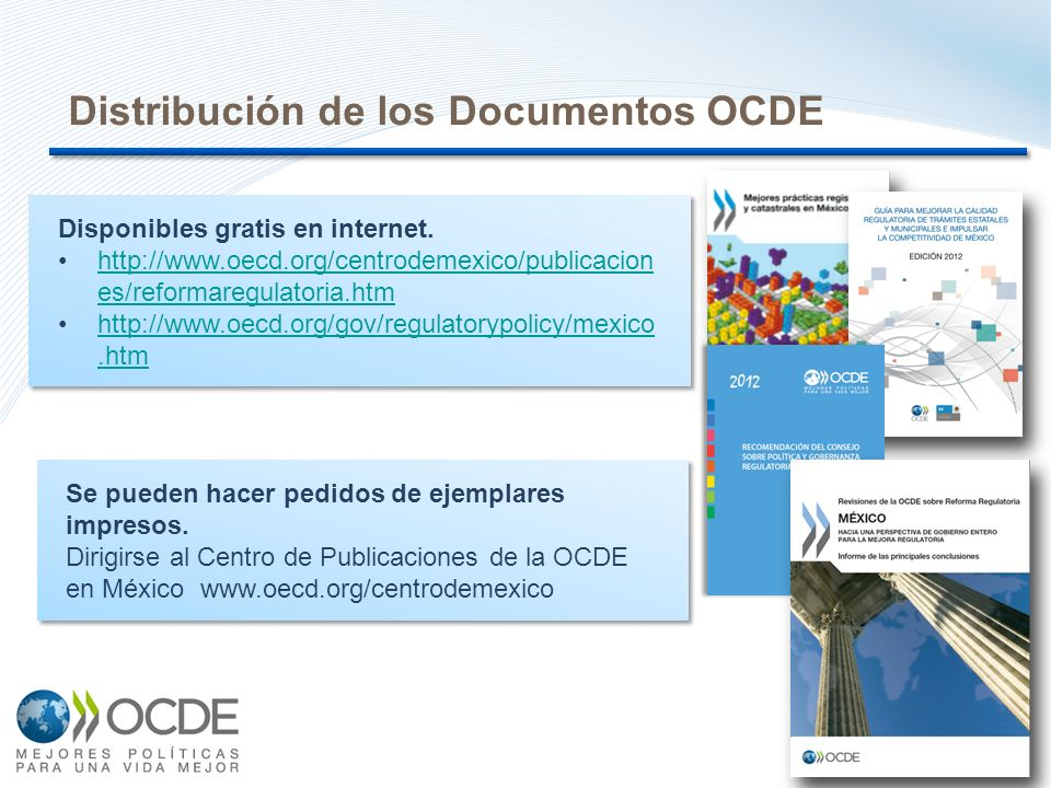 Distribución de los Documentos OCDE