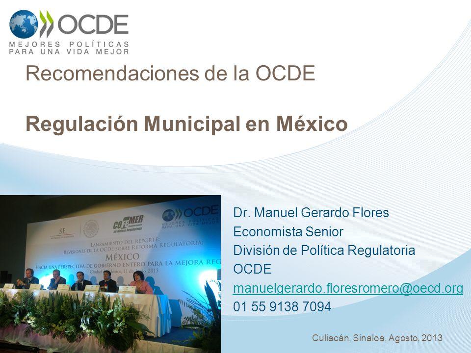 Recomendaciones de la OCDE Regulación Municipal en México