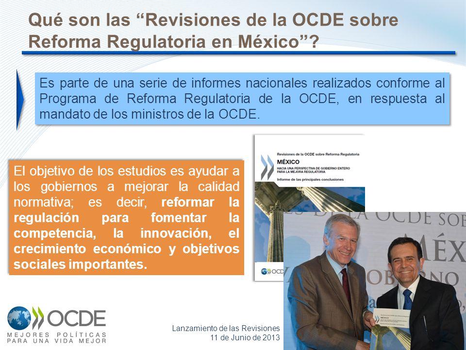 Qué son las Revisiones de la OCDE sobre Reforma Regulatoria en México
