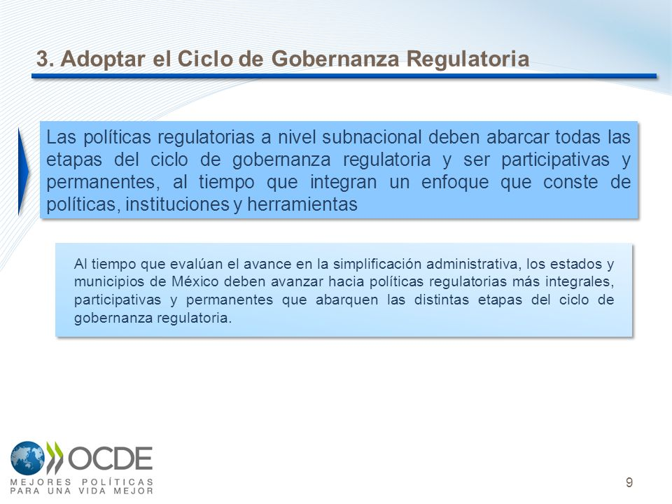 3. Adoptar el Ciclo de Gobernanza Regulatoria