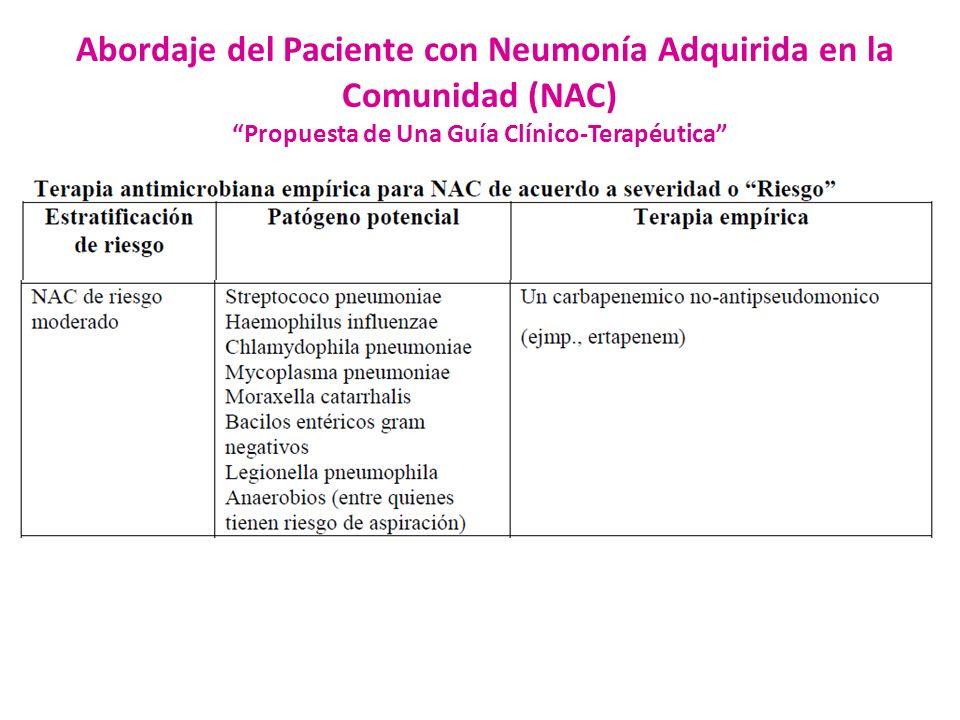 Propuesta de Una Guía Clínico-Terapéutica