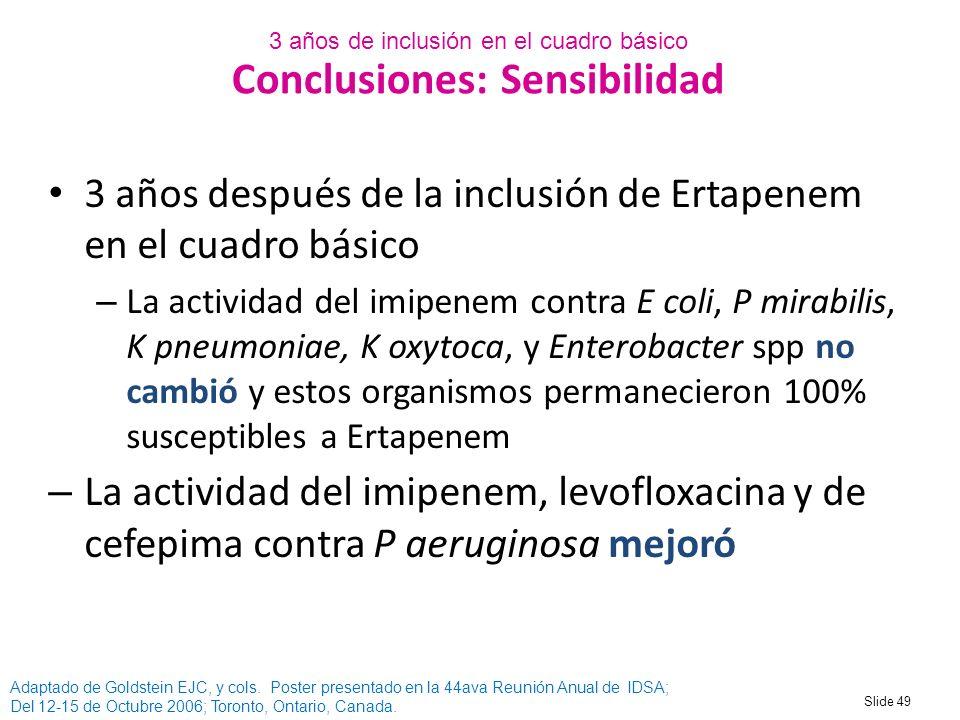 Conclusiones: Sensibilidad