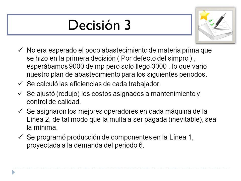 Decisión 3