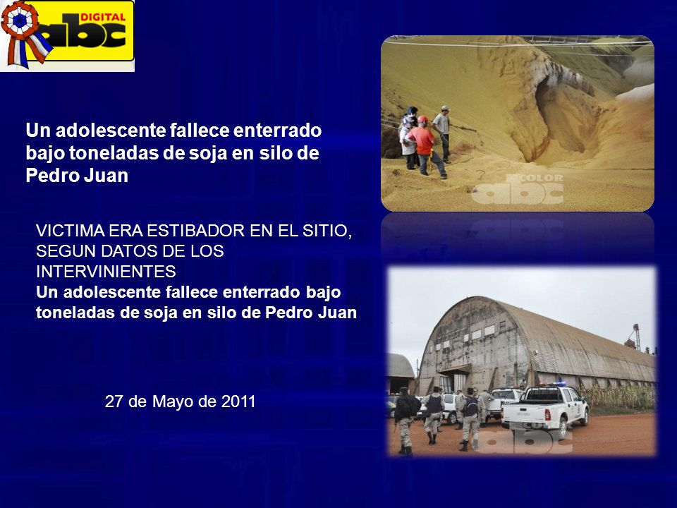 Un adolescente fallece enterrado bajo toneladas de soja en silo de Pedro Juan
