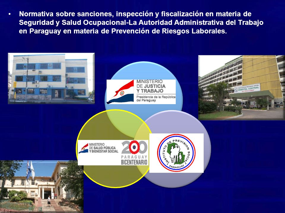 Normativa sobre sanciones, inspección y fiscalización en materia de Seguridad y Salud Ocupacional-La Autoridad Administrativa del Trabajo en Paraguay en materia de Prevención de Riesgos Laborales.
