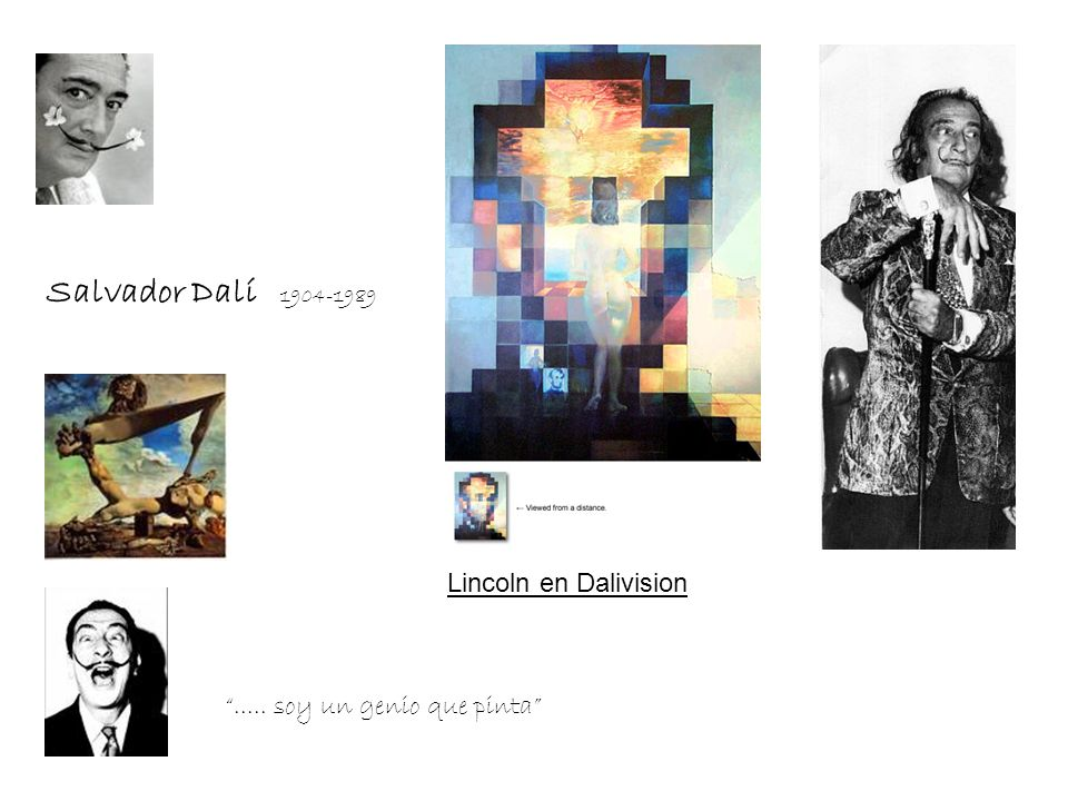 Salvador Dalí 1904-1989 Lincoln en Dalivision