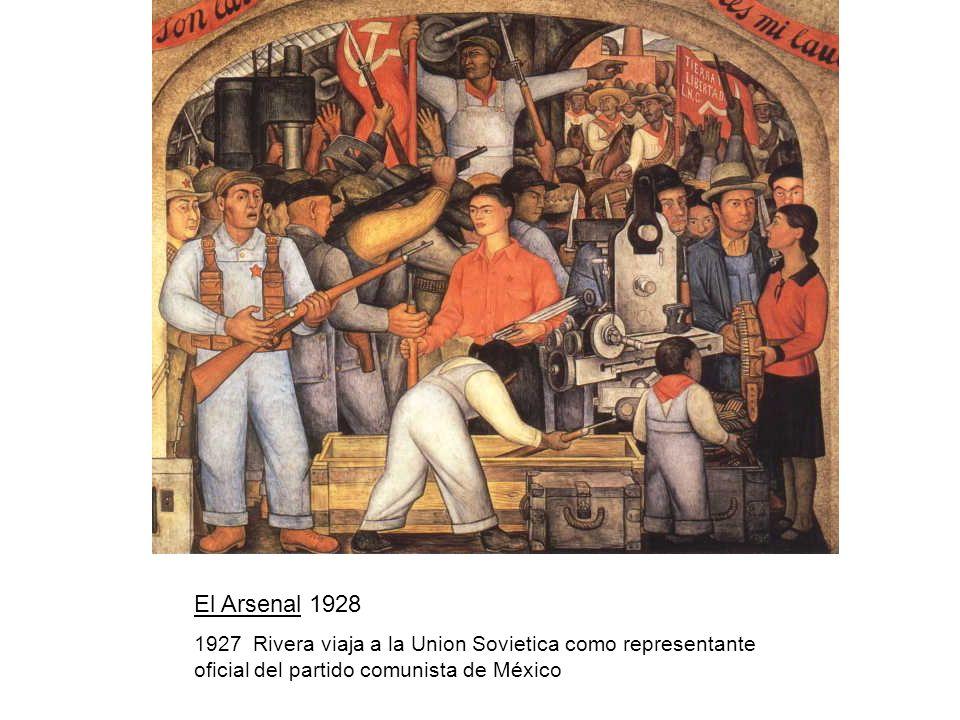 El Arsenal 1928 1927 Rivera viaja a la Union Sovietica como representante oficial del partido comunista de México.