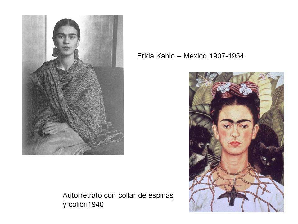 Frida Kahlo – México 1907-1954 Autorretrato con collar de espinas y colibri1940