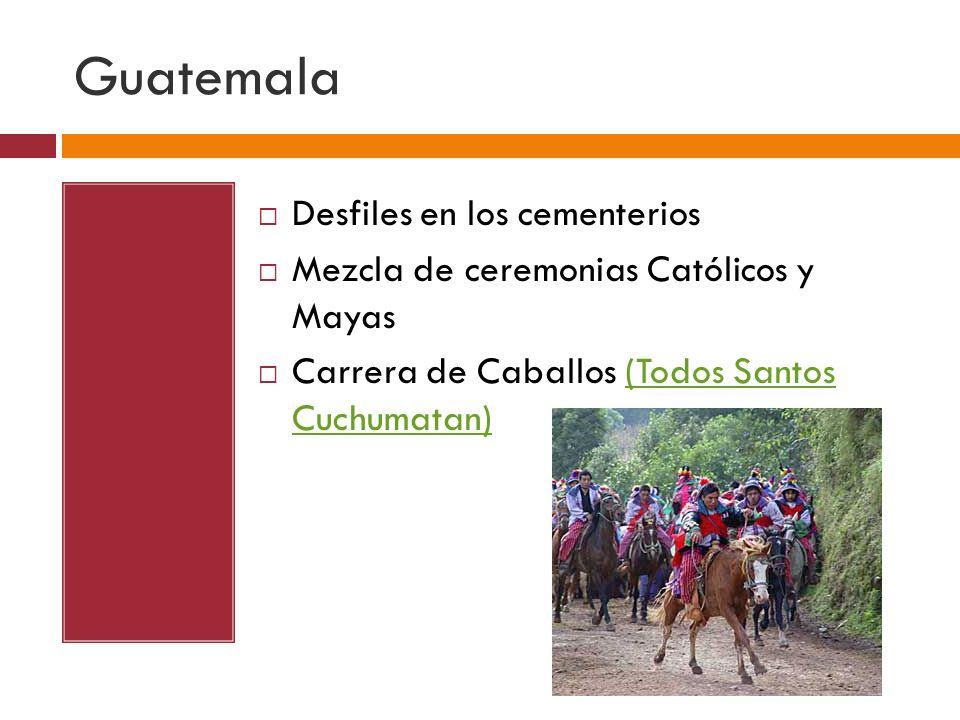 Guatemala Desfiles en los cementerios