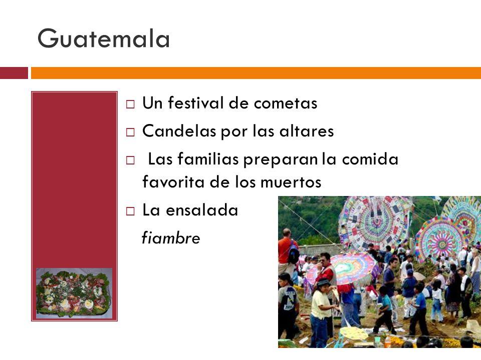Guatemala Un festival de cometas Candelas por las altares