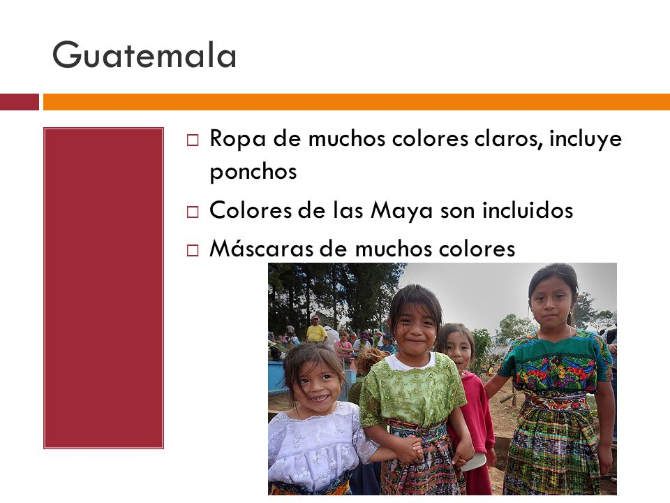 Guatemala Ropa de muchos colores claros, incluye ponchos