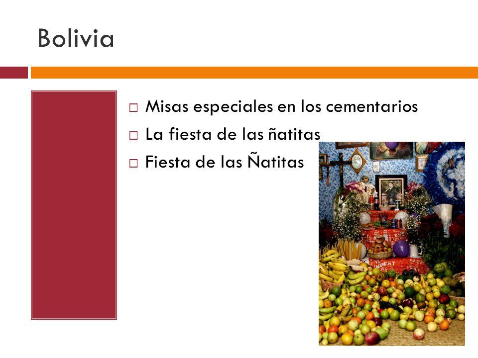 Bolivia Misas especiales en los cementarios La fiesta de las ñatitas