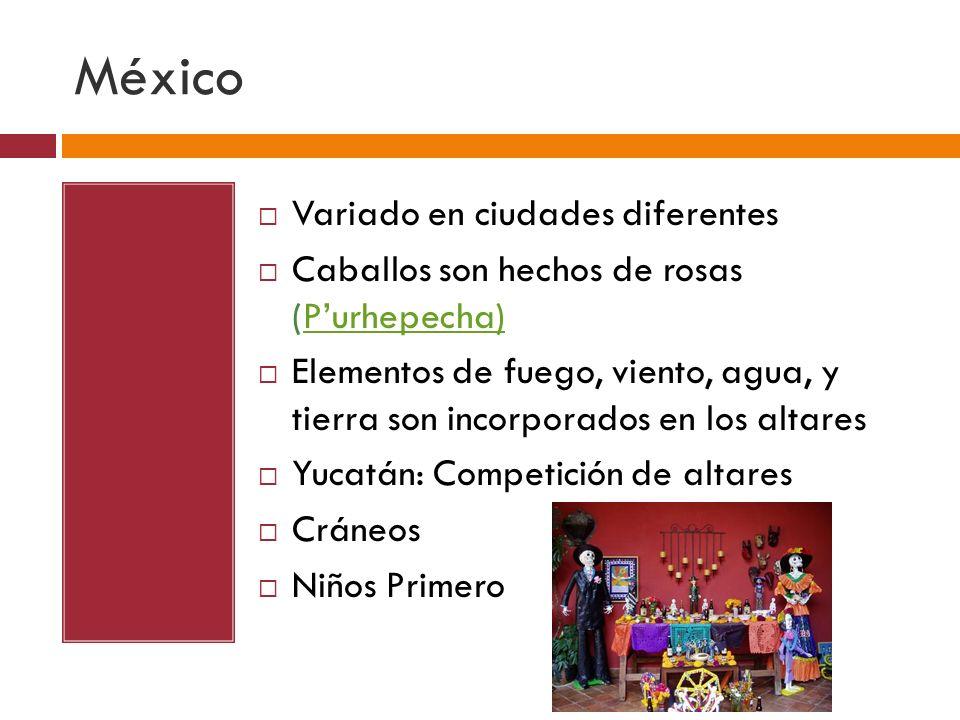 México Variado en ciudades diferentes