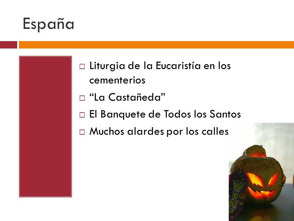 España Liturgia de la Eucaristía en los cementerios La Castañeda