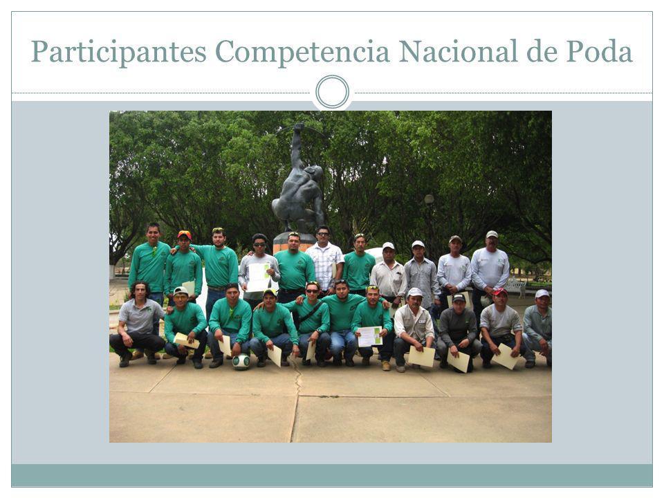 Participantes Competencia Nacional de Poda