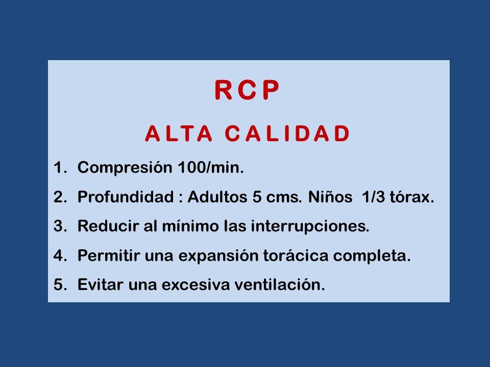 RCP ALTA CALIDAD Compresión 100/min.