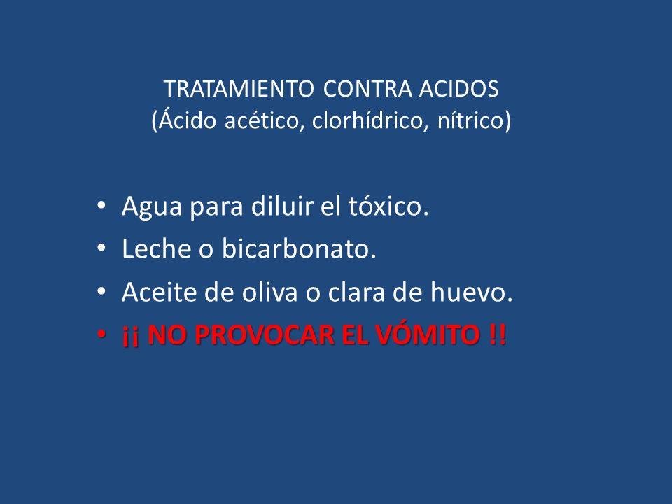 TRATAMIENTO CONTRA ACIDOS (Ácido acético, clorhídrico, nítrico)