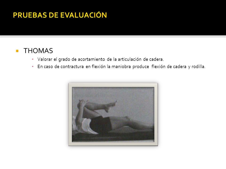 PRUEBAS DE EVALUACIÓN THOMAS
