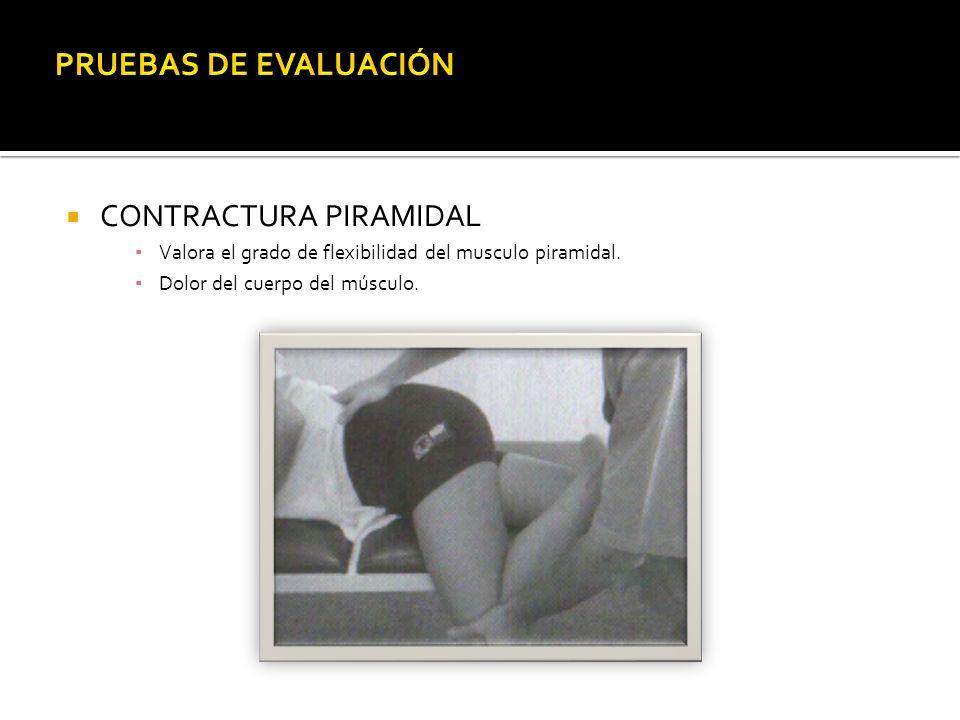 PRUEBAS DE EVALUACIÓN CONTRACTURA PIRAMIDAL