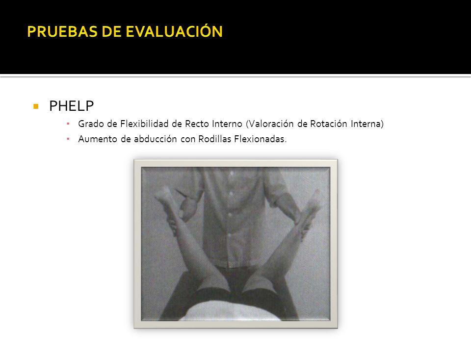 PRUEBAS DE EVALUACIÓN PHELP