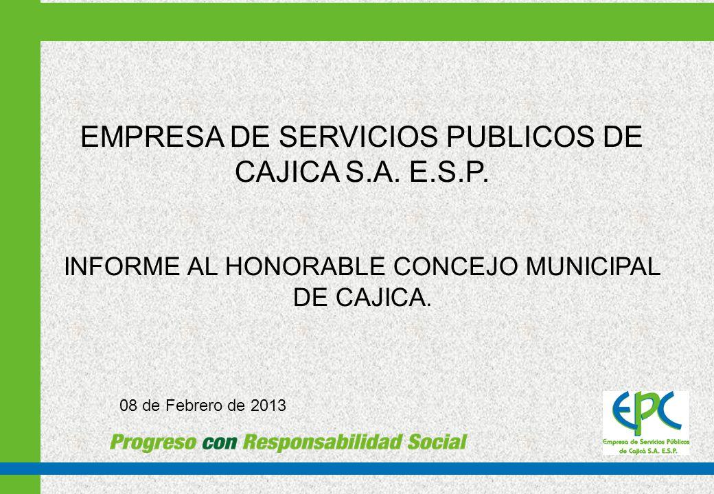 EMPRESA DE SERVICIOS PUBLICOS DE CAJICA S.A. E.S.P.