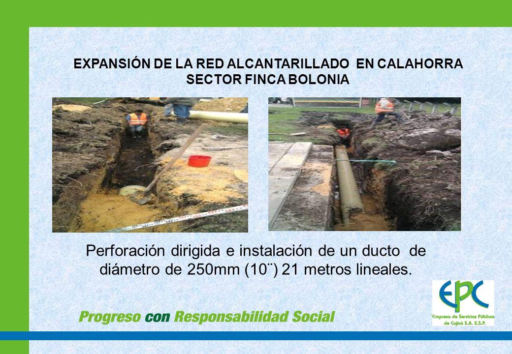 EXPANSIÓN DE LA RED ALCANTARILLADO EN CALAHORRA SECTOR FINCA BOLONIA