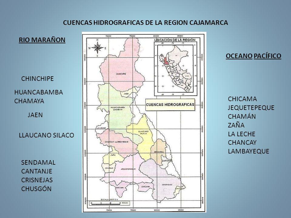 CUENCAS HIDROGRAFICAS DE LA REGION CAJAMARCA