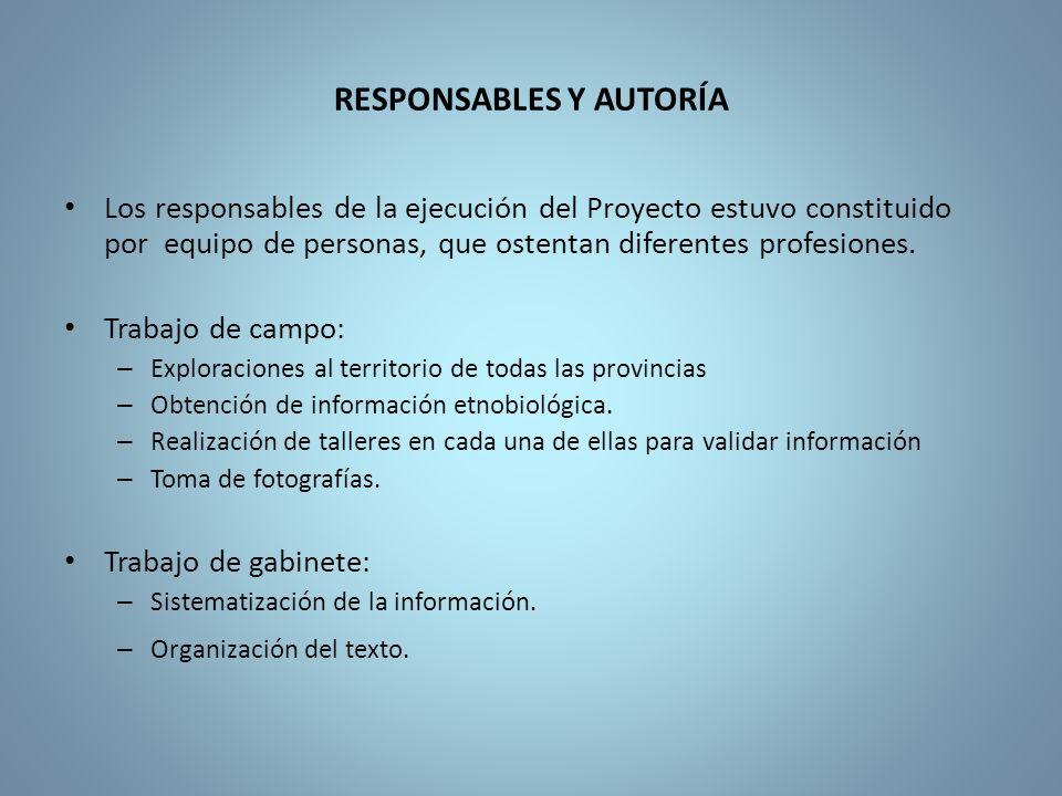 RESPONSABLES Y AUTORÍA