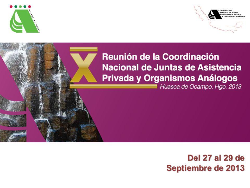 Del 27 al 29 de Septiembre de 2013